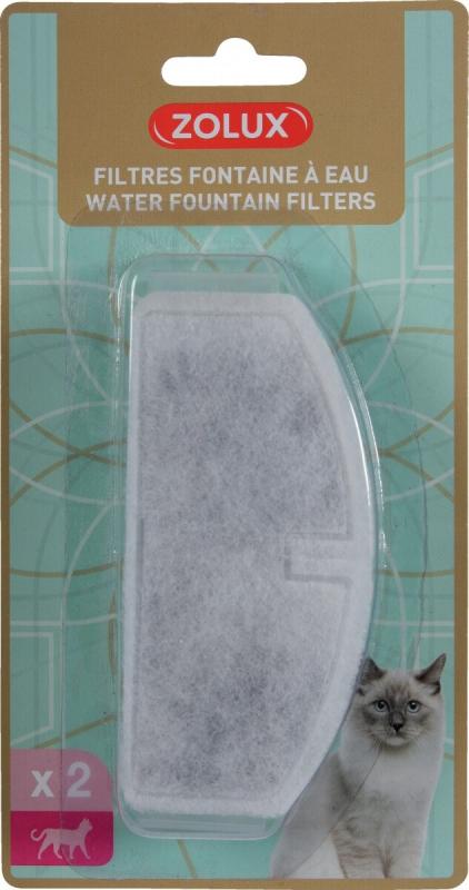 Cartouches de filtration pour fontaine à eau 2L Zolux