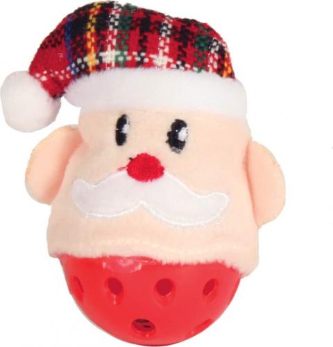 Balle pour chat Père Noël avec grelots