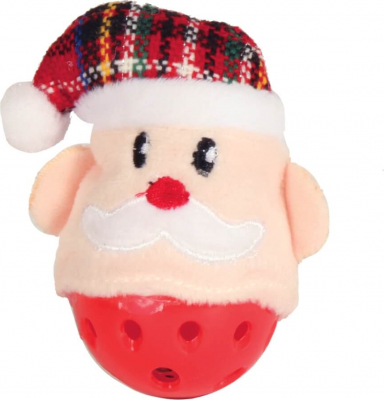 Santa Claus cat ball with bells