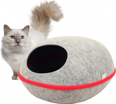 Cama refugio para gatos ZOLIA Bucky gris