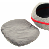 Niche pour chat cosy ZOLIA Bucky grise