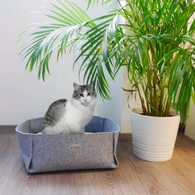 Panier pour chat tendance  ZOLIA Lya gris