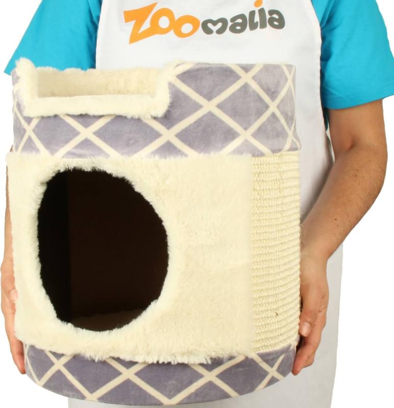 tour griffer zolia beny en peluche pour chat 33cm. Black Bedroom Furniture Sets. Home Design Ideas