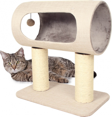 Scratching Post System ZOLIA Chachou in grey- 52cm