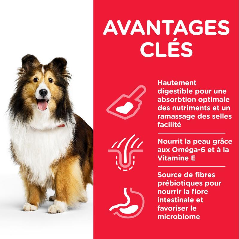Hill's Science Plan Canine Adult Sensitive Stomach & Skin pour chien adulte de taille moyenne au poulet