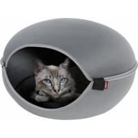 Couchage chat 2en1 Dôme et corbeille Louna gris
