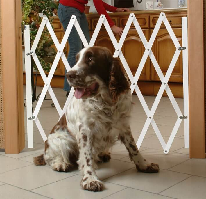 Barriere pour chien en bois peint STOPFIX H84cm