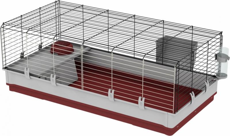 Cage lapin Krolik Extra Large bordeaux 120cm