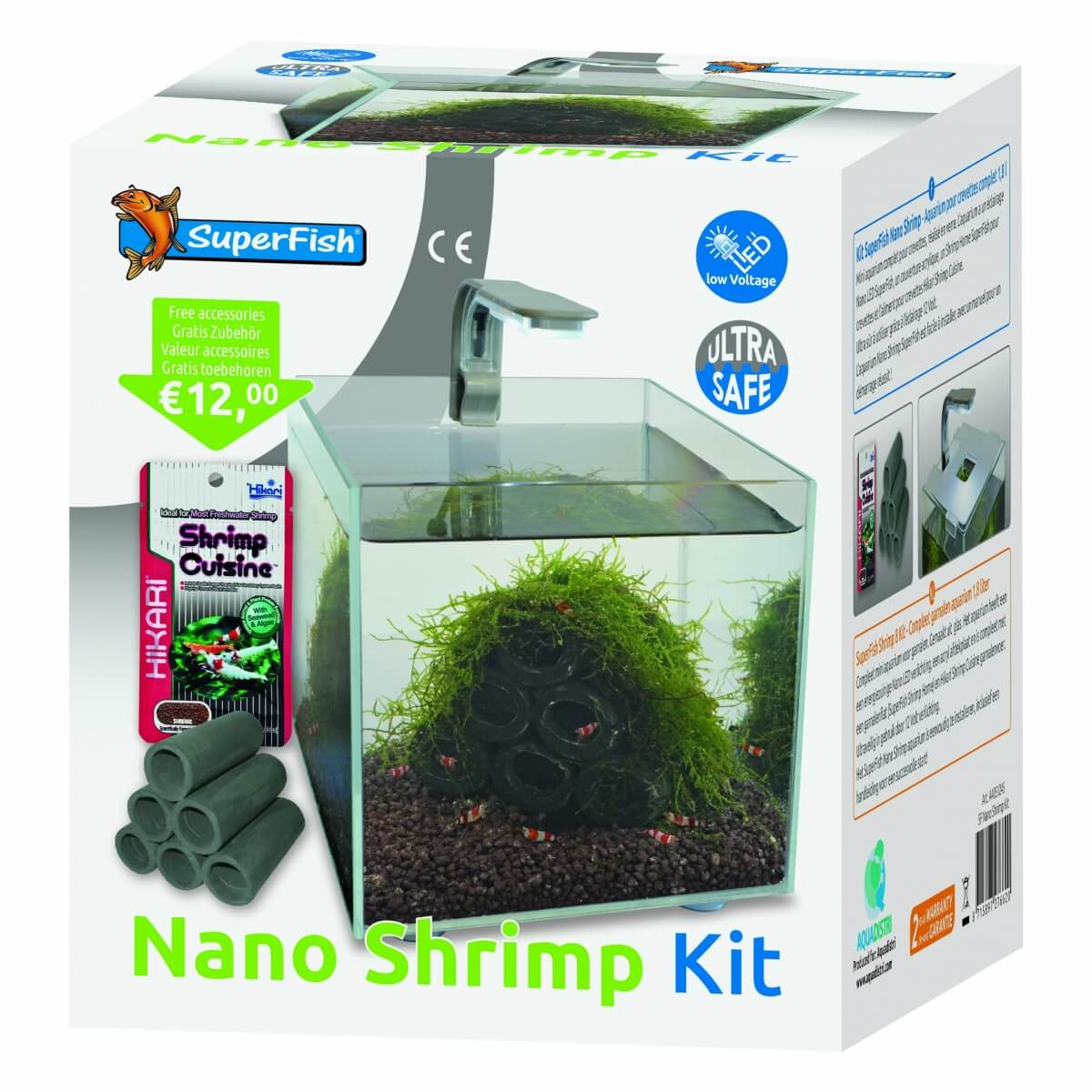 Mini Aquarium SuperFish Shrimp Kit 1.8L_1