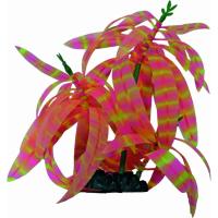 SuperFish FLUO Décoration - Fluo Plante 3 Rose rayé