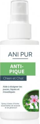 Essentiel Spray Anipur Anti-Puces et Anti-tiques pour chien et chat