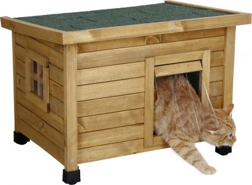 maison ext rieure pour chat rustica. Black Bedroom Furniture Sets. Home Design Ideas