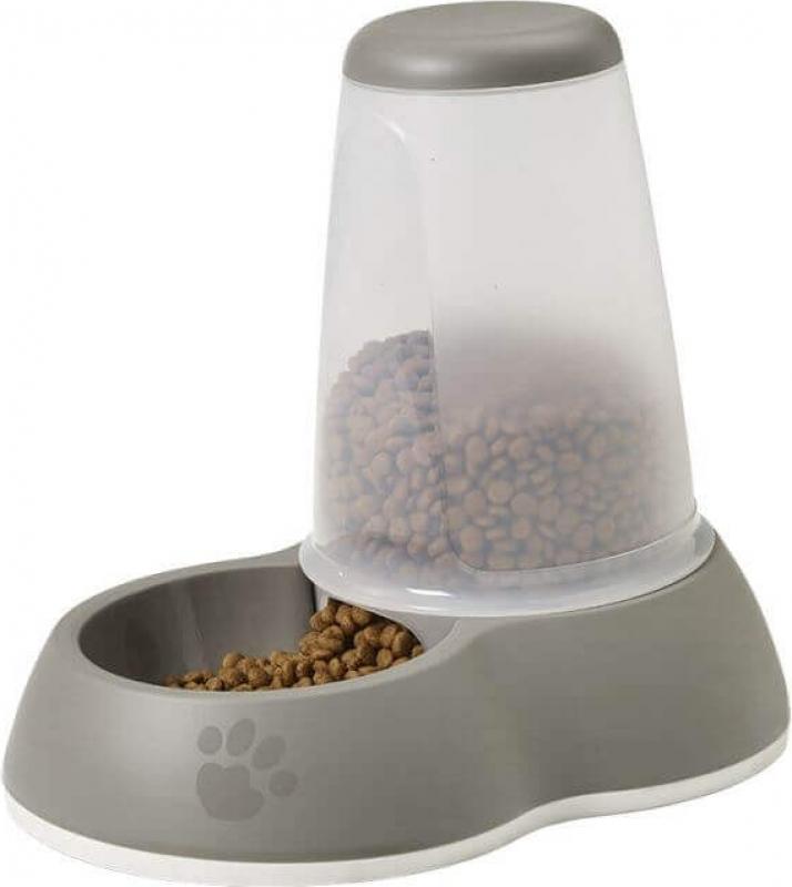 Distributeur de croquettes Loop Gris pour chien et chat