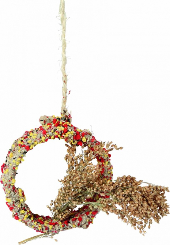 Anello con grappoli di miglio per uccelli Native Snacks
