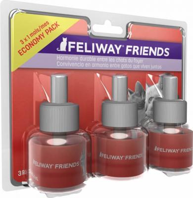 FELIWAY Pack de 3 recharges diffuseur Feliway Friends