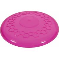 Jouet frisbee pop framboise pour chien