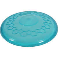 Jouet frisbee pop turquoise pour chien