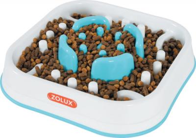 Ecuelle anti-glouton carrée pour chien