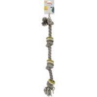 Jouet corde aux coloris assortis pour perroquet
