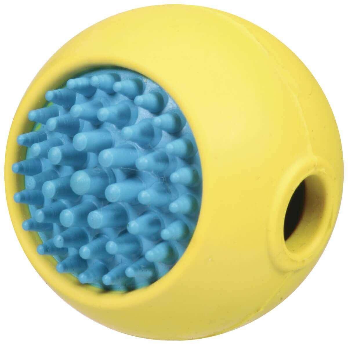 Jouet dentaire et disrtibuteur de friandises pour chien Grass Ball  - plusieurs tailles_0