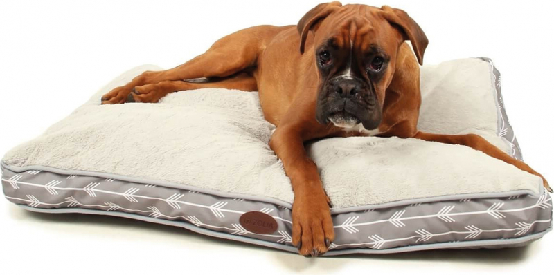 Matelas extra doux gris pour chien Zolia Tatoo