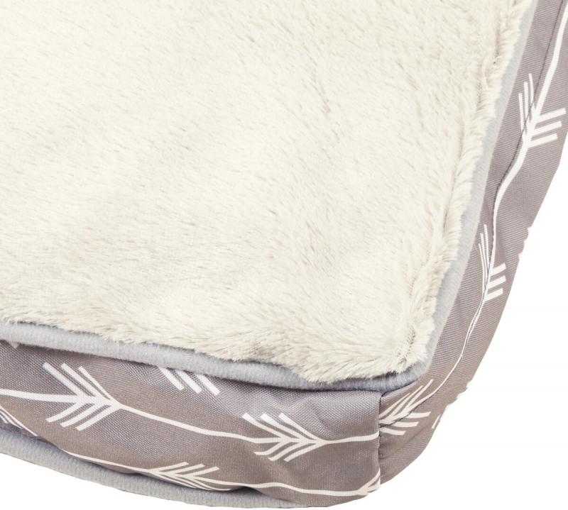 Matelas extra doux gris pour chien ZOLIA TATOO - 90cm et 110cm