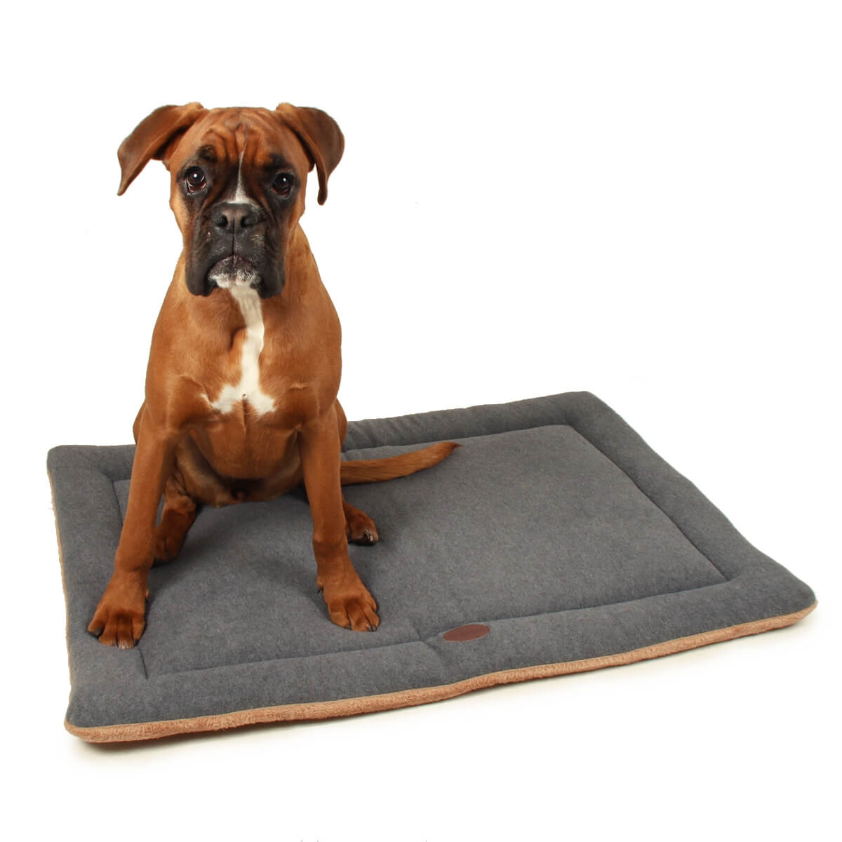 tapis oxo zolia polaire gris pour grand chien 100cm coussin et tapis. Black Bedroom Furniture Sets. Home Design Ideas