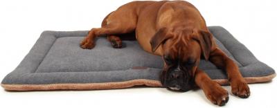 Tapis Oxo Zolia polaire gris pour grand chien - 100cm
