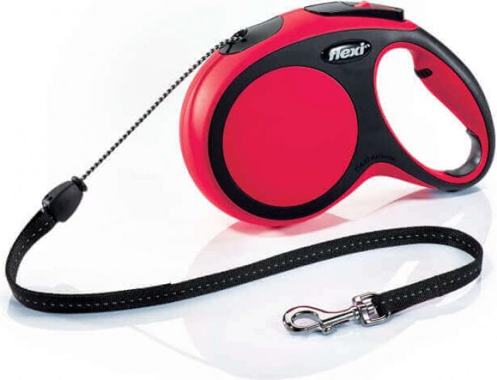 Laisse enrouleur Flexi New Comfort cordon rouge