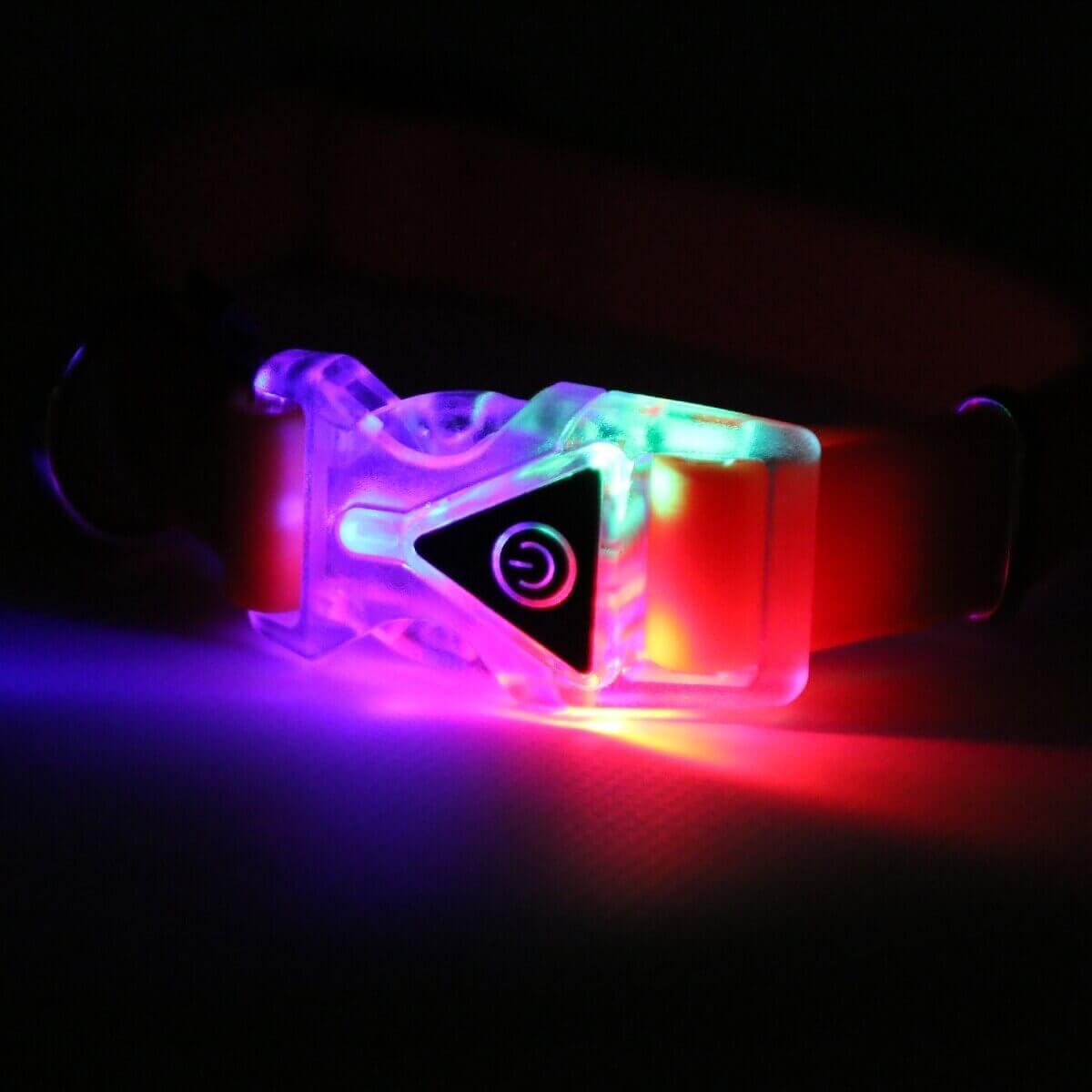 Collier lumineux réglable en silicone_4