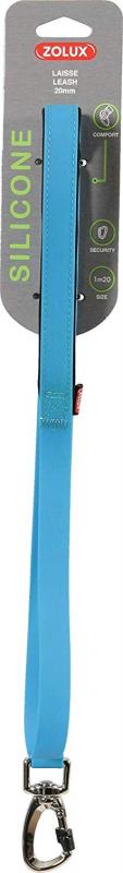 Laisse silicone 1m20 bleue