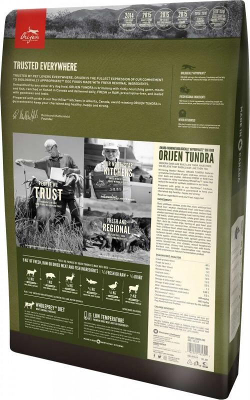 ORIJEN Tundra Sans Céréales pour chien et chiot