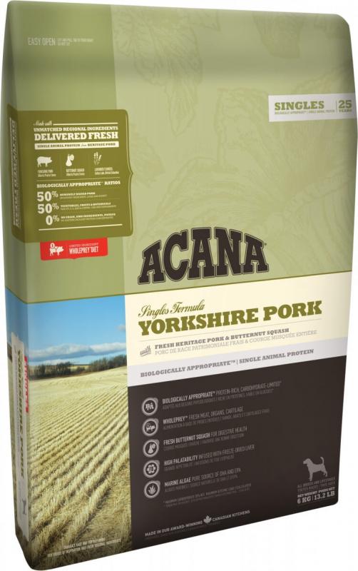 ACANA SINGLES Yorkshire Pork pour chien sensible
