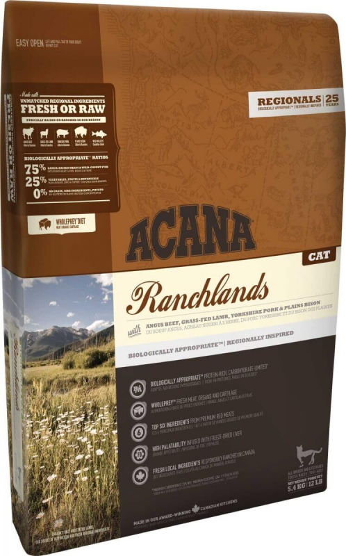 ACANA REGIONAL Ranchlands pour chat