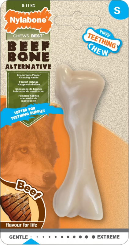 Nylabone Puppy Beef Bone - pour chiot