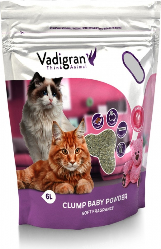 Cat litter clump Baby powder