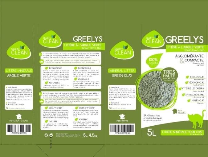 Arena mineral y aglomerante en arcilla verde GREELYS