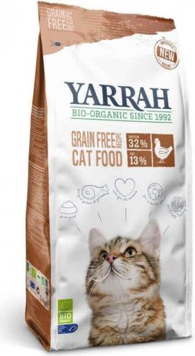 Yarrah ohne Getreide Huhn und Bio-Fisch für Katzen