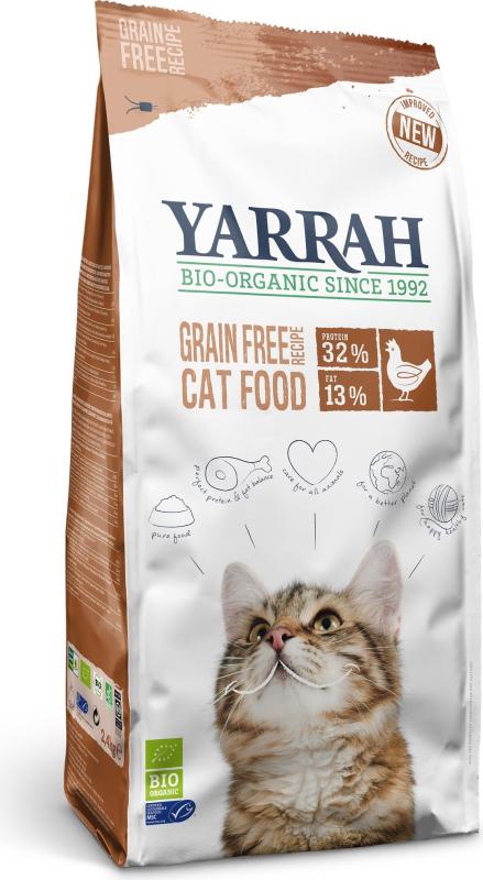YARRAH Bio Sans Céréales au Poulet pour Chat Adulte