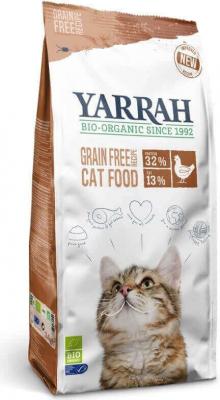 Yarrah sans céréales poulet et poisson bio pour chat