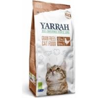 Yarrah sin cereales al pollo y pescado orgánico para gato
