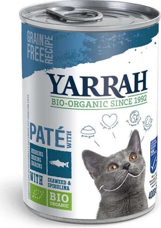 Pâtée Yarrah Bio 400g Sans Céréales pour Chat Adulte- 3 saveurs au choix