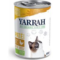 Pâtée Yarrah Bio 400g Sans Céréales pour Chat Adulte- 2 saveurs au choix