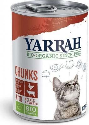 Yarrah bouchées bio pour chat - 3 saveurs au choix