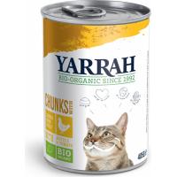 Pâtée en Bouchée Yarrah Bio 405g pour Chat Adulte - 3 saveurs au choix