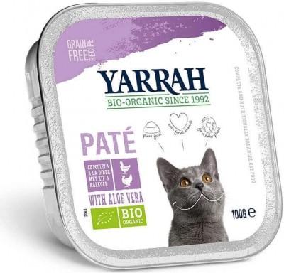Yarrah patés orgánico sin cereales para gato - 3 sabores a elegir