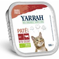 Pâtée Yarrah Bio 100g Sans Céréales pour Chat Adulte - 3 saveurs au choix