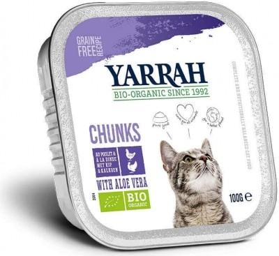 Yarrah bouchées bio sans céréales pour chat - 3 saveurs au choix
