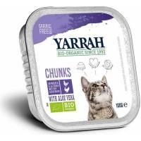 Pâtée en Bouchée Yarrah Bio 100g Sans Céréales pour Chat Adulte - 3 saveurs au choix