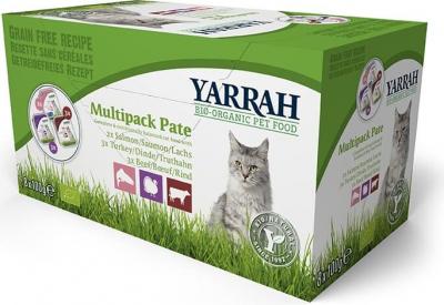 Yarrah Multipack pâtées bio sans céréales pour chat